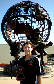 Mike Nyitray standing in front of the U.S. Olympic Training Center in Colorado Springs, CO