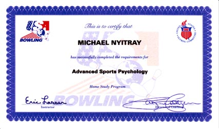 Mike Nyitray was the first person to complete the Advanced Sport Psychology Certification program, Dec. 1999.