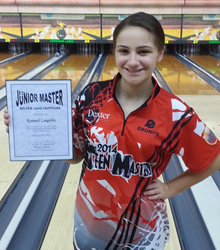 Kennedi Laughlin with her Silver JM Certificate